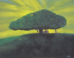 Itozono Wasaburou  Large Tree on a Hill  1991