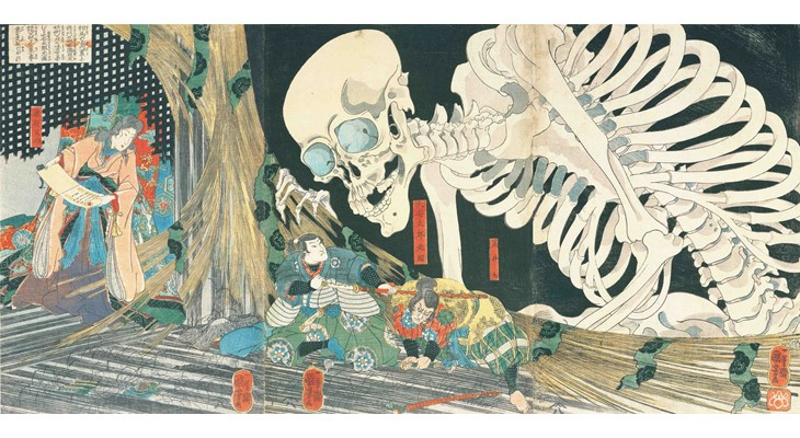 UTAGAWA Kuniyoshi《The Haunted Old Palace at Soma》/ Hagi Uragami Museum